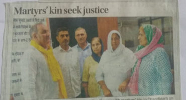 प्रेस क्लब चंडीगढ़ में दिनांक 08/10/2018 को शहीदों की आवाज़ कल्याण संघ द्वारा आयोजित संवादाता सम्मेलन में सरकार को सचेत किया